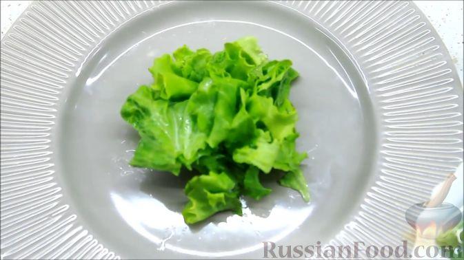 Фото приготовления рецепта: Летний салат с ежевикой и нектарином - шаг №6