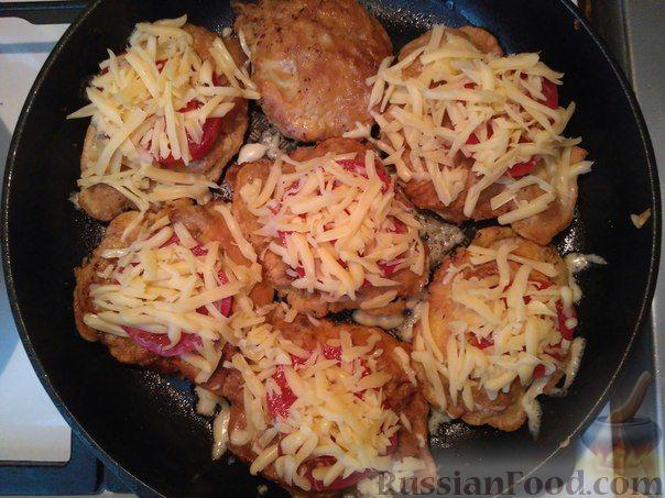 Свинина помидорами сковороде фото рецепт