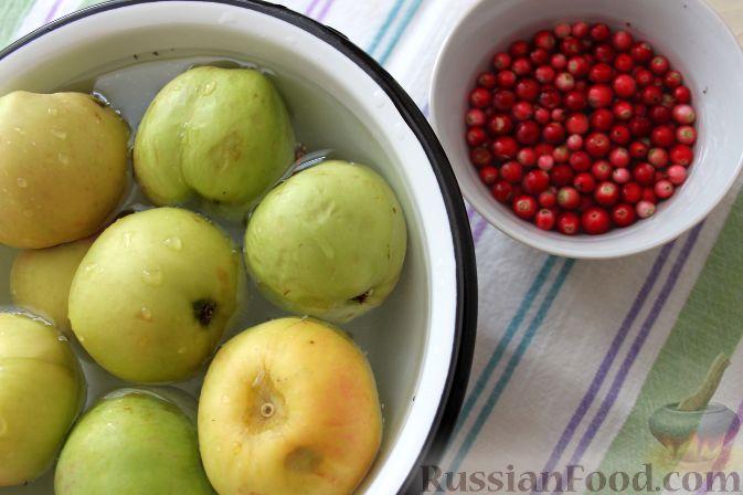 Фото приготовления рецепта: Гарнир из яблок и брусники (к мясу) - шаг №2