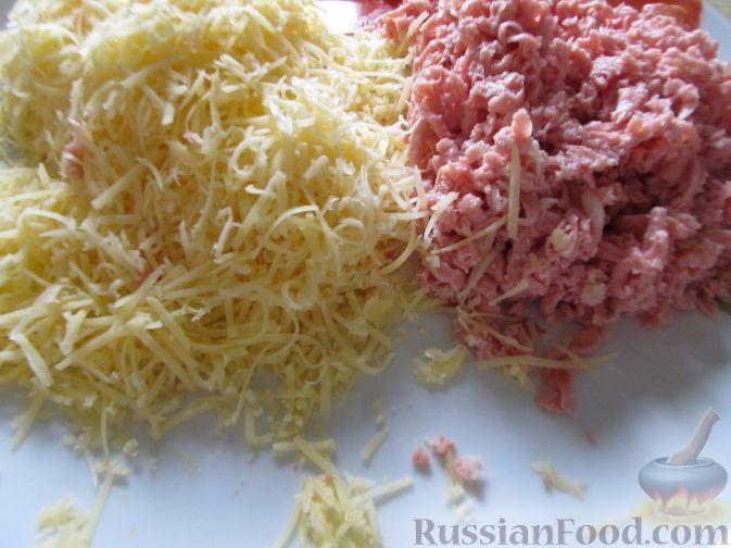 пицца в духовке с сыром и колбасой рецепт с фото