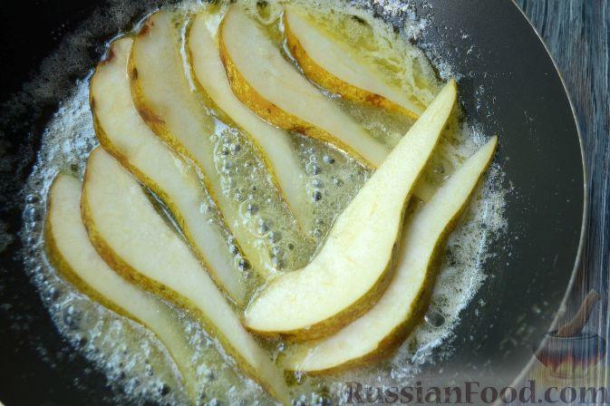 Пирог с карамелизированными грушами рецепт