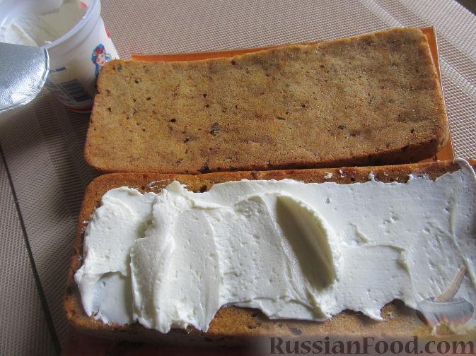 Фото приготовления рецепта: Полезный торт с клубникой - шаг №17