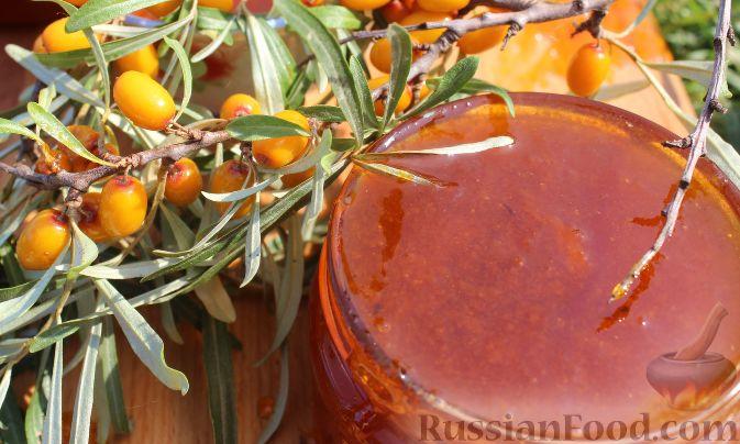 Фото приготовления рецепта: Облепиховый «мед» на зиму (в мультиварке) - шаг №13