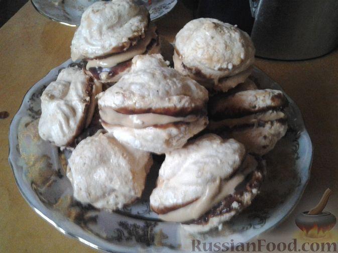 Рецепт Безе с шоколадом и кремом