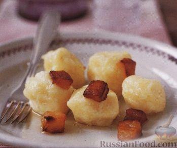 Рецепт Картофельные ньоки с жареным салом