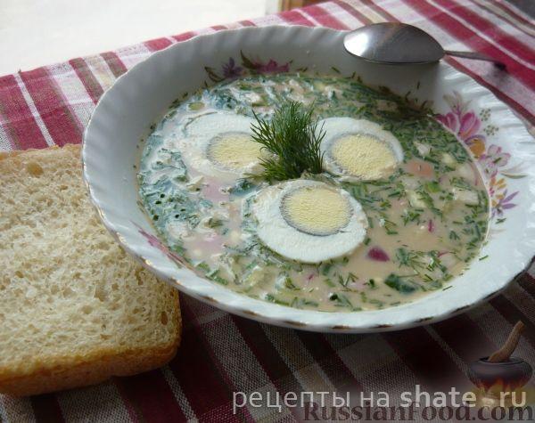 Рецепт Окрошка по-домашнему с колбасой