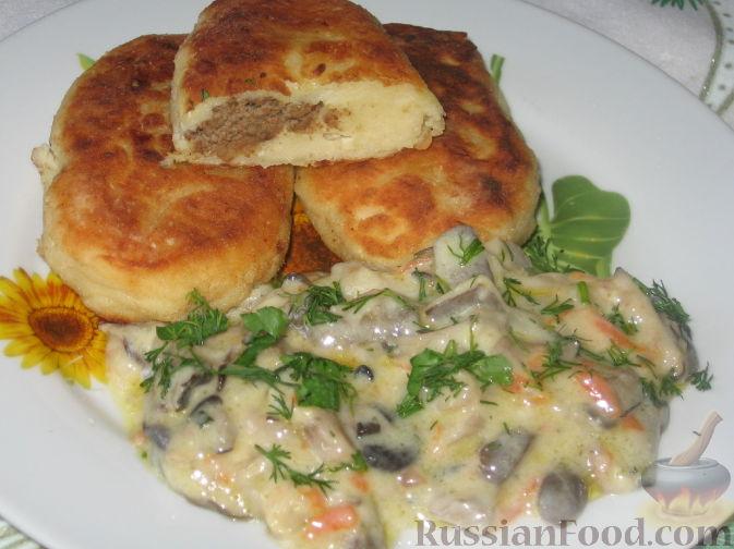 Рецепт Картофельные зразы и грибы