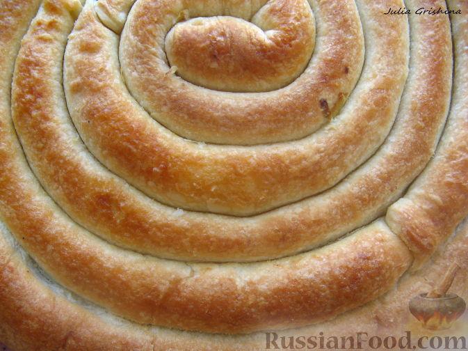 Рецепт Кольцевой пирог с двойной начинкой