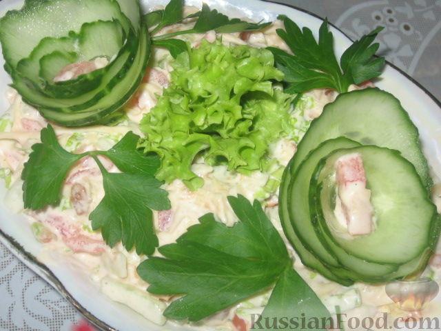 Рецепт Салат с жареными кабачками