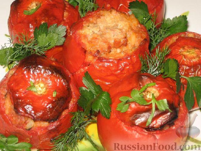 """Рецепт Помидоры, фаршированные мясом, или приворотные """"золотые яблоки"""""""