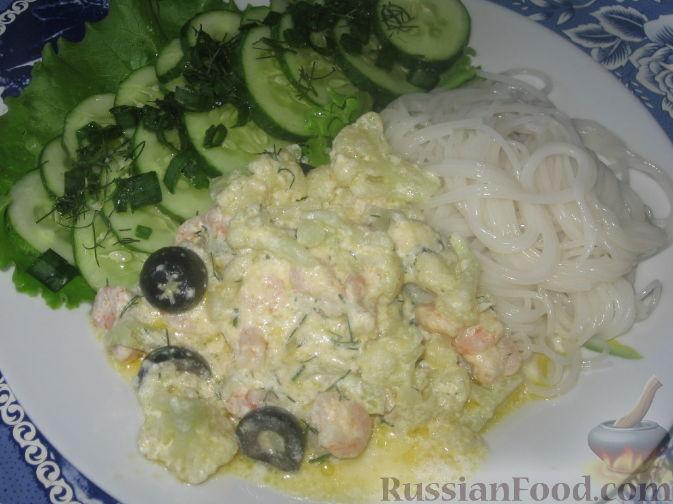 Рецепт Креветки с цветной капустой