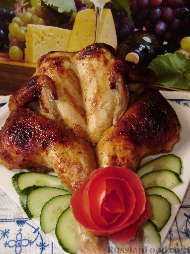 Рецепт Имбирно-медовая курица запеченная