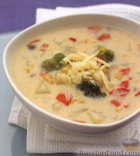 Рецепт Молочный суп с овощами