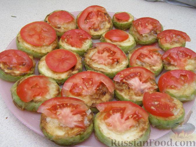 Рецепт кабачки с помидорами с чесноком