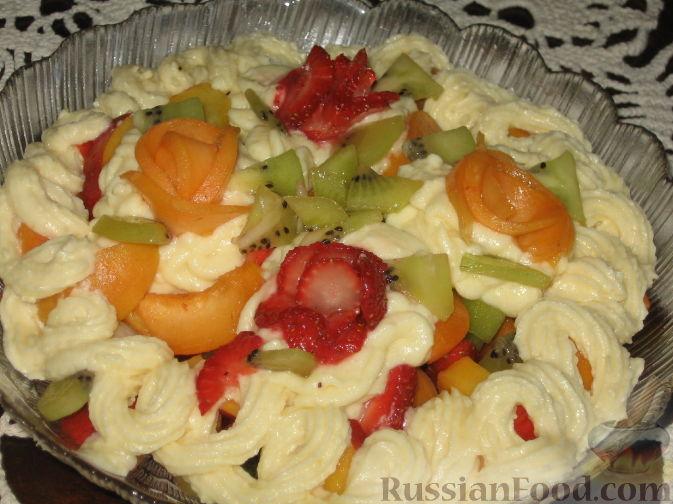салат с черешней и абрикосами рецепт