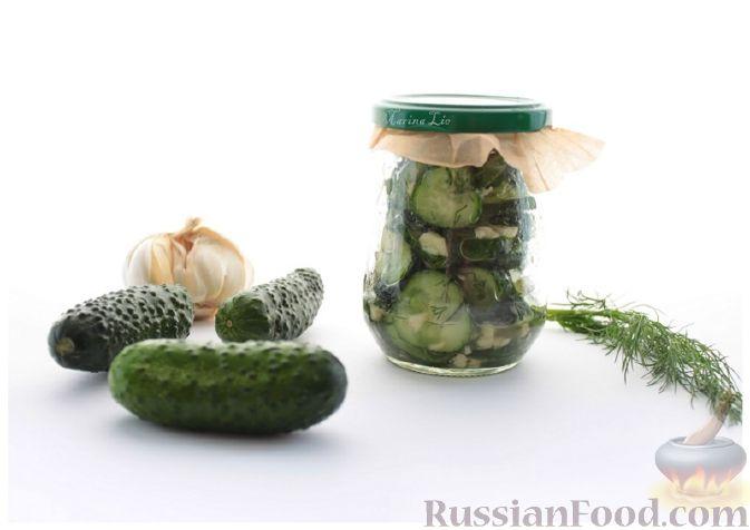 Рецепт Остренький салат из огурцов за час