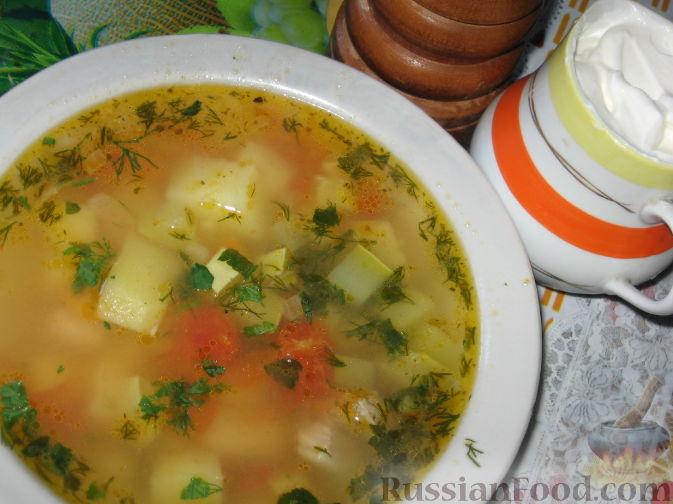 Рецепт Суп картофельный с кабачками