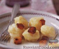 Фото к рецепту: Картофельные ньоки с жареным салом
