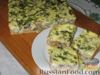 Фото к рецепту: Рыбный пирог со сметаной