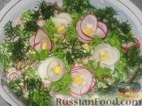 Фото к рецепту: Салат с кукурузой и редисом