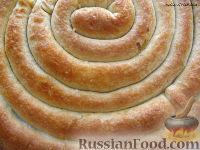 Фото к рецепту: Кольцевой пирог с двойной начинкой