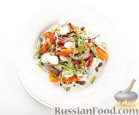 Фото к рецепту: Салат с печеной морковью и моцареллой