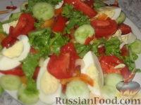 Фото к рецепту: Пестрый летний салат