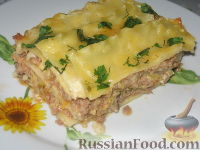 Фото к рецепту: Мясная лазанья с кабачком