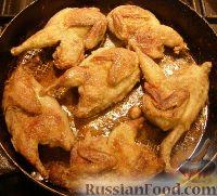 Фото приготовления рецепта: Перепелки, тушенные в белом вине - шаг №2