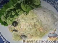 Фото к рецепту: Креветки с цветной капустой