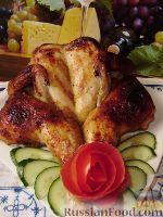 Фото к рецепту: Имбирно-медовая курица запеченная