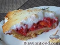 Фото к рецепту: Пирог с вишнями (по-канадски)