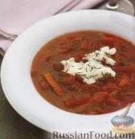 Фото к рецепту: Легкий, вегетарианский борщ