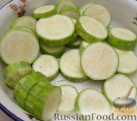Фото приготовления рецепта: Закуска из кабачков с чесноком и помидорами - шаг №1