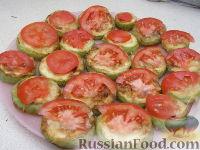 Фото приготовления рецепта: Закуска из кабачков с чесноком и помидорами - шаг №6