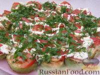Фото приготовления рецепта: Закуска из кабачков с чесноком и помидорами - шаг №8