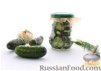 Фото к рецепту: Остренький салат из огурцов за час