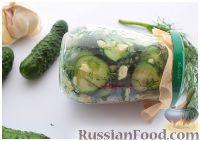 Фото приготовления рецепта: Остренький салат из огурцов за час - шаг №4