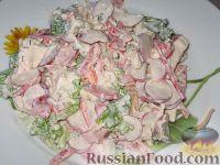 Фото к рецепту: Салат с курицей и редисом