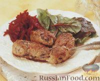 Фото к рецепту: Куриные биточки с грибами
