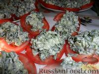 Фото к рецепту: Закуска из помидоров, ревеня, укропа и зеленого лука