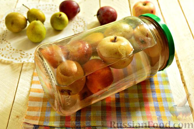 компот из сливы и груши на зиму рецепты