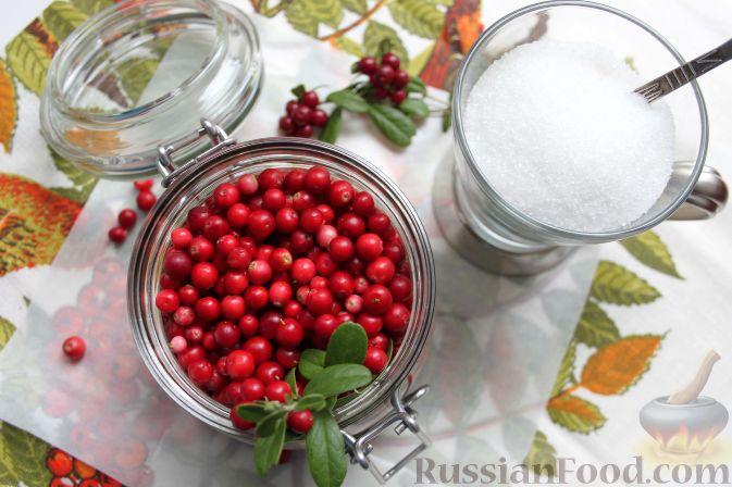 Фото приготовления рецепта: Брусничный морс - шаг №1