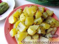 Фото к рецепту: Картошка в рукаве (в аэрогриле)