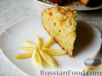 Фото к рецепту: Абрикосовый пирог со штрейзелем