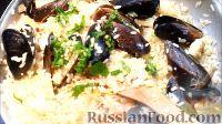 Фото к рецепту: Испанская паэлья с морепродуктами и курицей