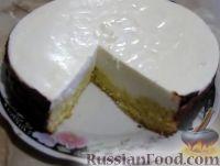 Фото к рецепту: Торт с творожным суфле