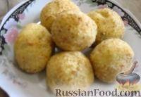 Фото к рецепту: Картофельные крокеты с грибами (в духовке)
