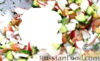 Фото приготовления рецепта: Быстрые закуски в тарталетках - шаг №27