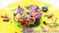 Фото к рецепту: Свекольный салат с сухофруктами и орехами